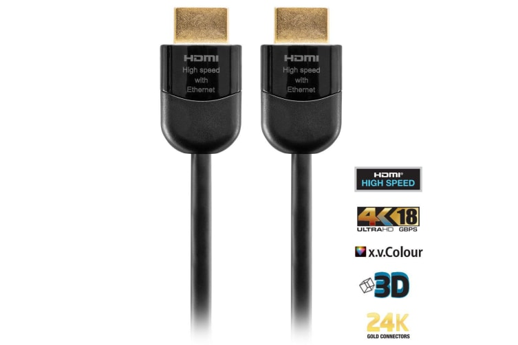 2x Pro2 HL18G3M Premium 3m  HDMI Lead Cable 4K 2160P HD Ethernet Gold Plated
