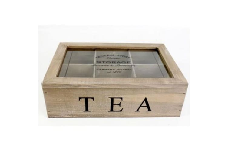 General Store Wooden Tea Box (Brown) (One Size)