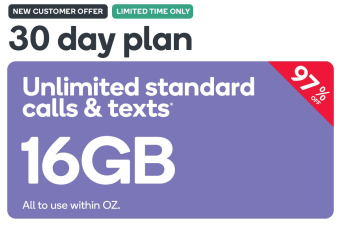 Kogan Mobile Prepaid Voucher Code: LARGE (30 Days | 16GB) - New Customers Only