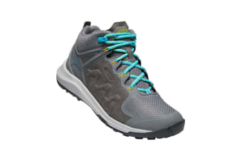 Keen Explore Mid WP Womens Steel Grey bright Turquoise - 7H