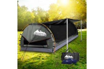 Weisshorn Double Size Dome Canvas Tent - Grey