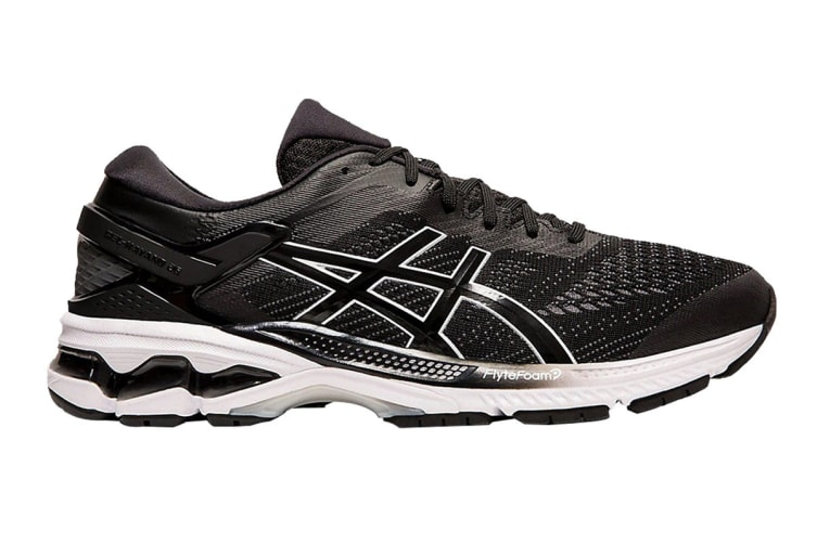 ASICS Men's Gel-Kayano 26 Running Shoe (Black/White, Size 8.5 US)