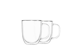 Pyrex 2pc Double Wall Mug Set 250ml