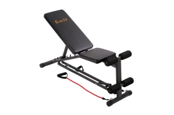 Adjustable F.I.D Bench with Resistance Bands 118CM