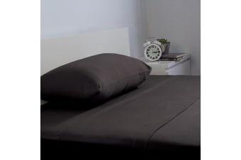 Bambury BedT Sheet Set - 100% Cotton Jersey - 35cm Deep - Black - Single