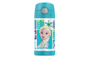 Thermos FUNtainer Stainless Steel Vacuum Insulated Drink Bottle Disney Frozen 355ml