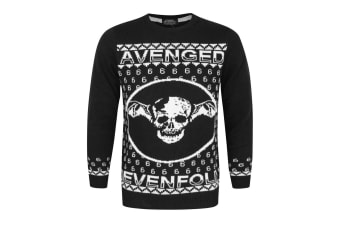 Avenged Sevenfold Unisex Adults Deathbat Christmas Jumper (Black)