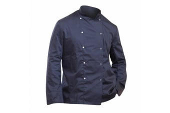Dennys Mens Economy Long Sleeve Chefs Jacket / Chefswear (Pack of 2) (Black) (XL)