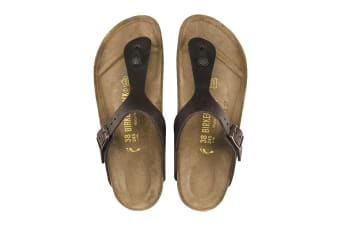 Birkenstock Unisex Gizeh Oiled Leather Thong (Habana, Size 39 EU)