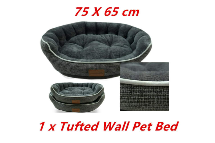 Pet Tufted Wall Lux Bed 75X65CM Cat Dog Mattress Pad Cushion Basket Soft 78860