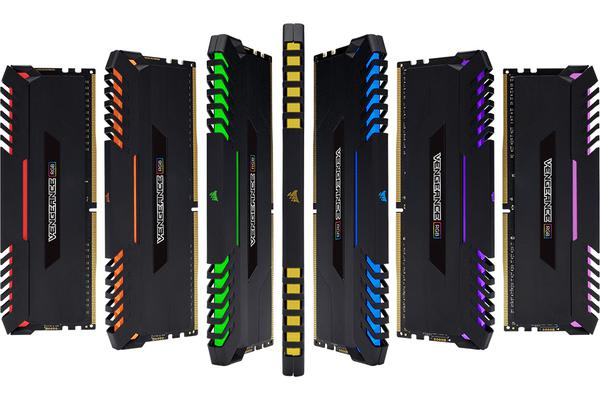 Corsair Vengeance RGB 32GB (4x8GB) DDR4 2666MHz C16 Desktop Gaming Memory