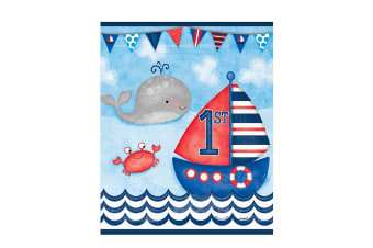 Unique Party Nautical 1st Birthday Lootbags (Pack of 8) (Multicolour) (One size)