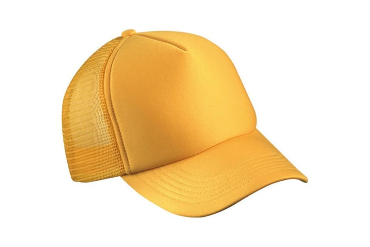 Myrtle Beach Adults Unisex 5 Panel Polyester Mesh Cap (Gold Yellow) (One Size)