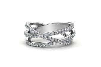 Soulmate Ring Embellished with Swarovski crystals Size US 8