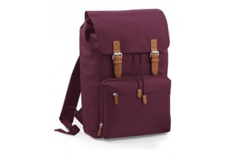 BagBase Vintage Laptop Backpack (Burgundy)