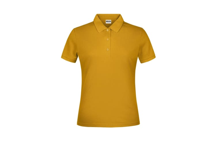 James And Nicholson Womens/Ladies Basic Polo Shirt (Gold Yellow) (XXL)