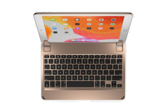 "BRYDGE Keyboard/Cover Case for 25.9 cm (10.2"") Apple iPad (7th Generation) Tablet - Gold - Aluminium"