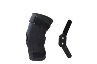Double Metal Hinged Full Knee Support Brace Knee Protection Equipment Size L