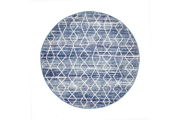Culture Blue Transitional Rug 240x240cm