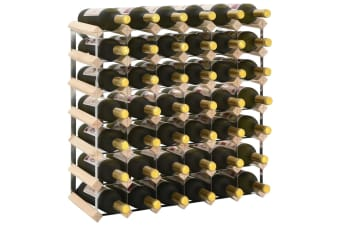vidaXL Wine Rack for 42 Bottles Solid Pinewood