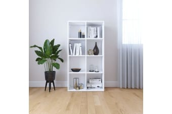 vidaXL Book Cabinet/Sideboard White 66x30x130 cm Chipboard