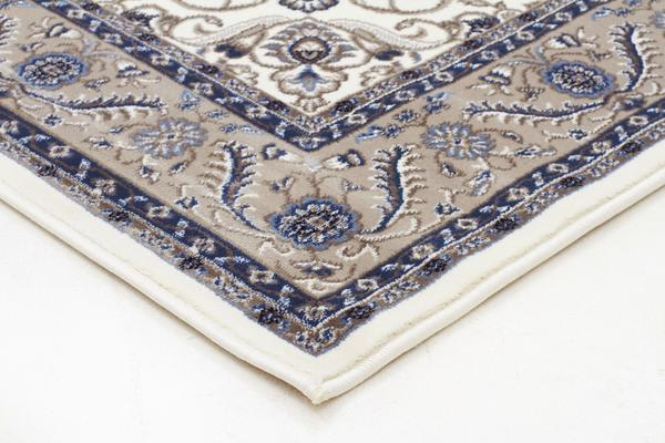 Medallion Rug White with Beige Border 170x120cm