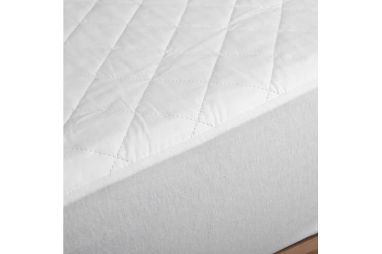 Dreamaker Cotton Quilted Waterproof Mattress Protector  Single Bed