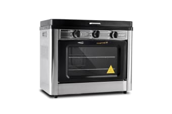 Portable Gas Oven and Stove (Silver/Black)