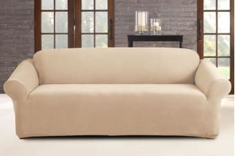 SureFit Pearson 3 Person Sofa Cover (Ivory)