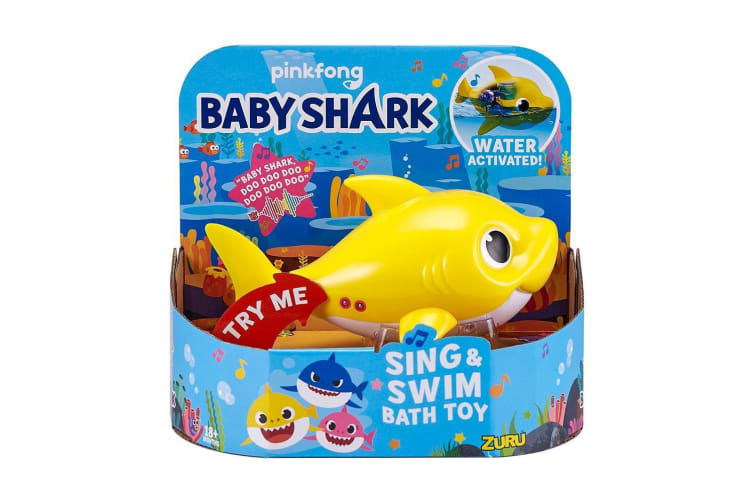 Robo Alive Junior Robotic Baby Shark in Yellow