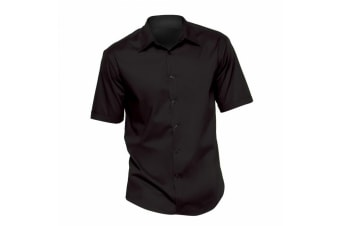 Bargear® Mens Short Sleeve Bar Shirt / Mens Bar Wear (Black)