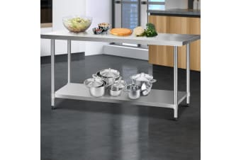 Stainless Steel Kitchen Benches Work Bench Food Prep Table 1829x760