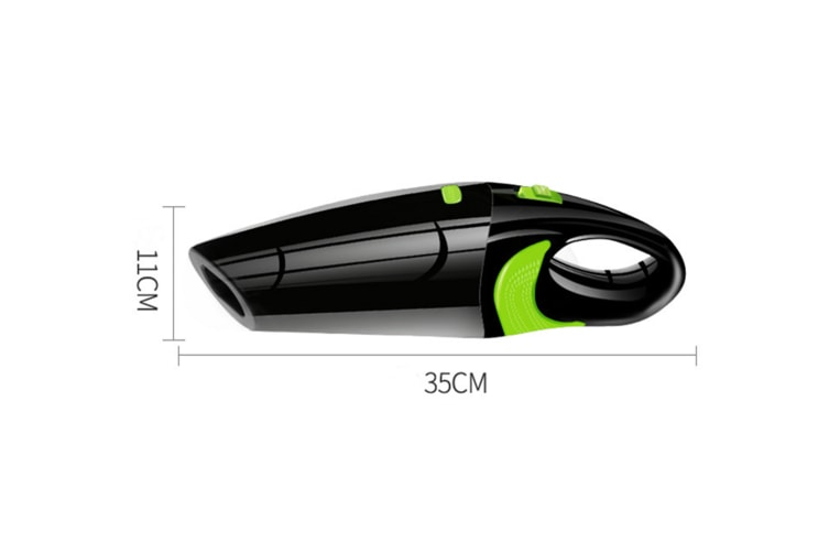 Wireless Vehicle Vacuum Cleaner Usb Charged Handheld Vacuum Cleaner - Transparent Green White