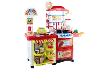 Kitchen Supermarket Pretend Play Set (Red/White)