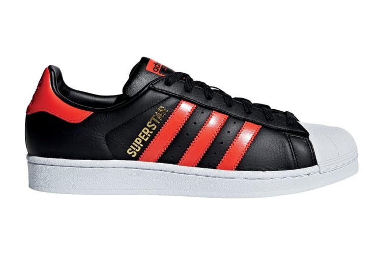 Adidas Originals Men's Superstar Shoe (Core Black/Bold Orange/White, Size 6.5 UK)