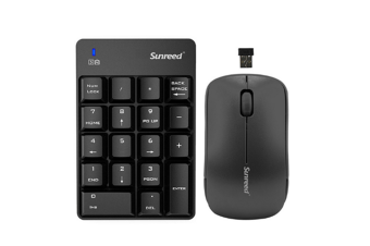 Select Mall Wireless Numeric Keypad Mini 2.4G 18 Keys Number Pad Portable SilentNumeric Keypad Keyboard Extensions with Wireless Mouse for Laptop