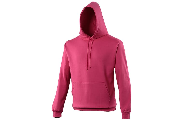 Awdis Unisex College Hooded Sweatshirt / Hoodie (Hot Pink) (S)