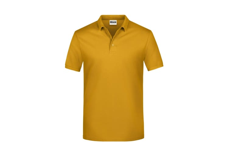 James And Nicholson Mens Basic Polo Shirt (Gold Yellow) (XXL)