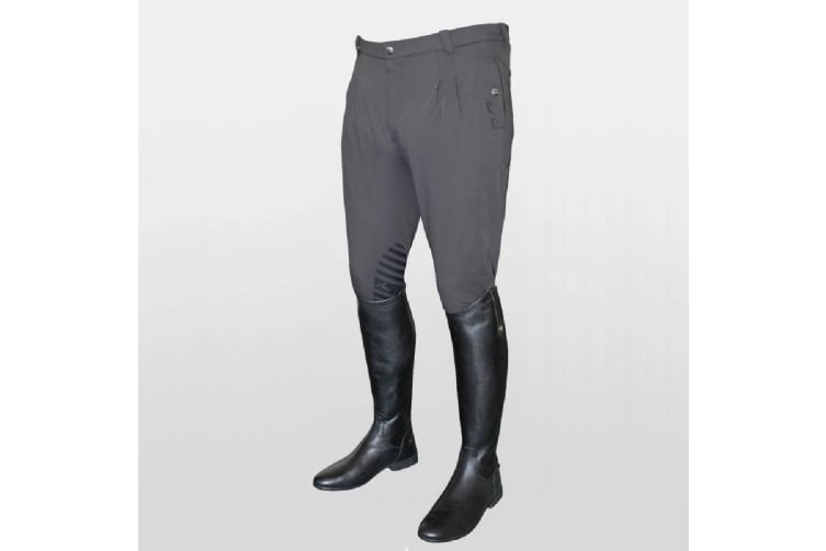 Mark Todd Mens Coolmax Grip Breeches (Grey) (36 inches)