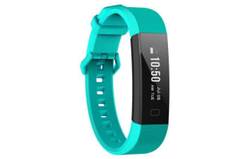 """TODO Bluetooth V4.0 Fitness Band Watch Heart Rate Monitor Ip67 0.87"""" Oled - Blue"""