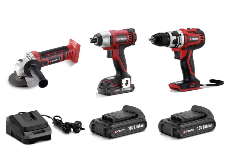Certa PowerPlus 18V 3 Piece Set (Brushless Drill)
