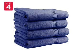 Onkaparinga Ethan 600GSM Bath Towel Set of 4 (Denim)