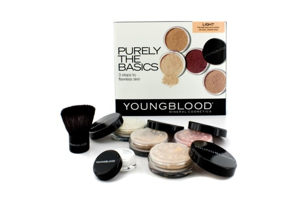 Youngblood Purely The Basics Kit - #Light (2xFoundation, 1xMineral Blush, 1xSetting Powder, 1xBrush, 1xMineral Powder) (6pcs)