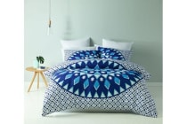 Royal Comfort Mandala Quilt Cover Set (Double, Esplanade)