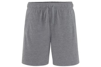 Comfy Co Mens Elasticated Lounge Shorts (Charcoal)