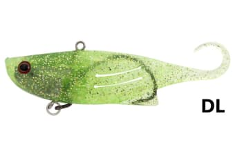 95mm Zerek Dry Lime Weedless Fish Trap Soft Vibe Fishing Lure - 18gm Soft Plastic Lure