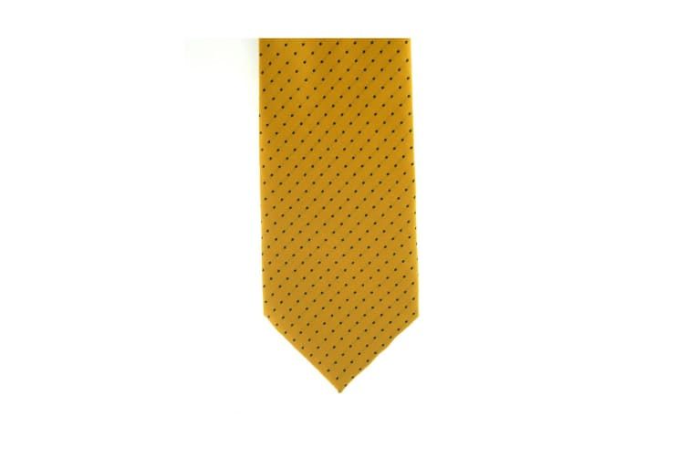 ShowQuest Pin Spot Tie (Sunshine/Navy) (One Size)