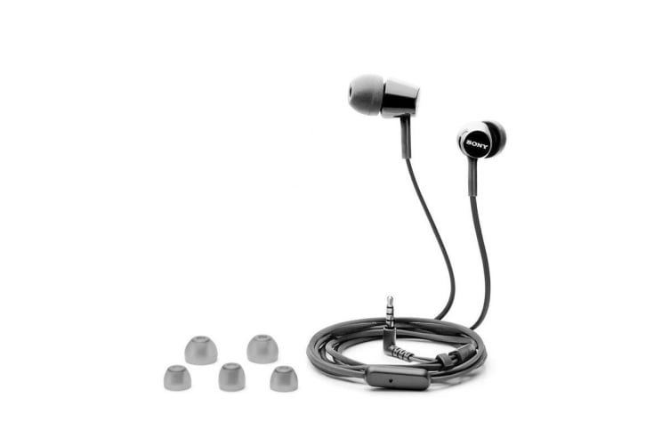 Sony MDR-EX155AP In-Ear Stereo Headphones with Remote - Black