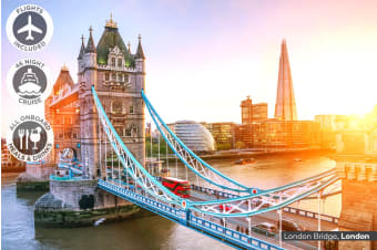 AROUND THE WORLD: 50 Day Sydney to London Cruise Including Flights for Two