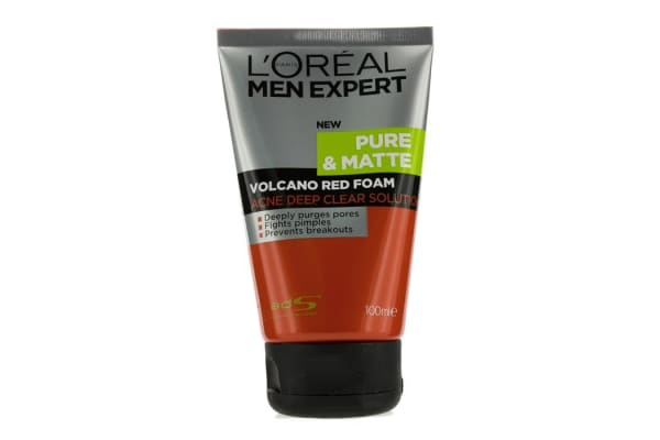 L'Oreal Men Expert Pure & Matte Volcano Red Foam (Tube) (100ml/3.4oz)